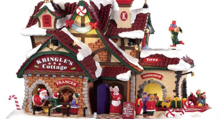 Lemax Kringle's Cottage Santa Wonderland