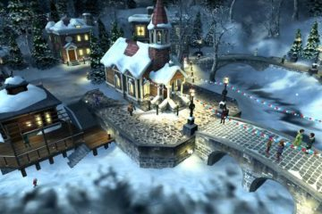 Christmas Snowing Village