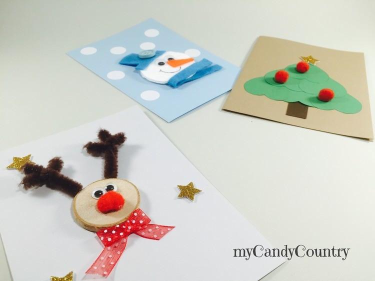 Biglietti Di Natale Fai Da Te Con Foto.Idee Diy Bliglietti Di Natale Fai Da Te Village Christmas Love