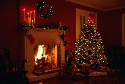 DIY Idee di Natale Tutorial Realizzare un Camino di Cartone
